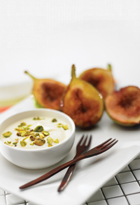 Seared Figs Honeyed Yoghurt
