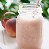 Peach & Strawberry Crumble Smoothie