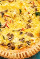 Feta, Spinach & Mushroom Quiche