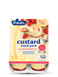 Custard and Fruit Snack Pack