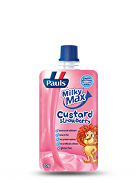 Pauls Milky Max Strawberry Custard Pouch