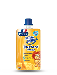 Pauls Milky Max Banana Custard Pouch